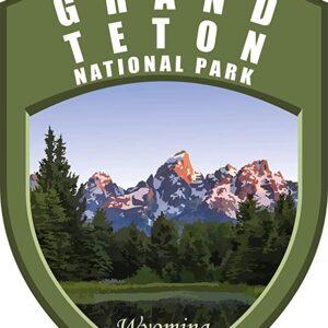Grand Teton National Park Vinyl Shield Sticker