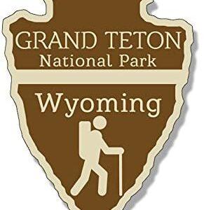 Grand Teton National Park Wyoming Arrowhead Sticker