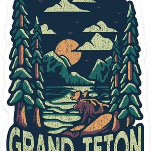 Grand Teton National Park Wyoming Distressed Sticker