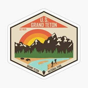 Grand Teton National Park Wyoming Outdoor Decal