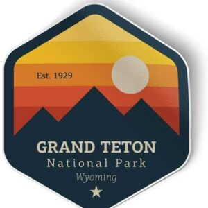 Grand Teton National Park Wyoming Sunset Sticker
