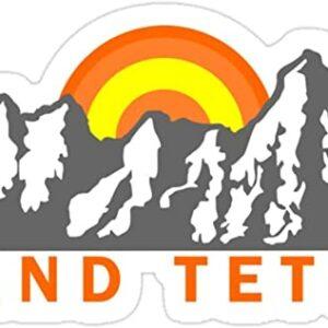 Grand Tetons Mountain Sunrise Sticker