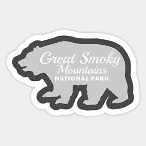 Great Smoky Mountains National Park Bear Retro Sticker