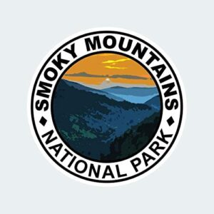 Great Smoky Mountains National Park Round Sticker