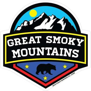 Great Smoky Mountains National Park Tennessee Die Cut Sticker