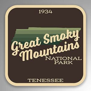 Great Smoky Mountains National Park Vinyl Gradient Sticker