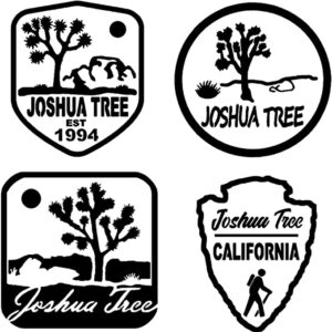 Joshua Tree National Park 4 Pack Of Stickers