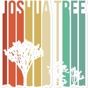 Joshua Tree National Park Retro Running Colors Sticker