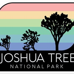 Joshua Tree National Park Vintage Rainbow Sticker