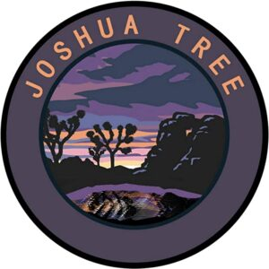 Joshua Tree Round Dark Circle Sticker