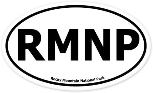 Mountain National Park Euro Oval Bumper Sticker