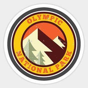 Olympic National Park Retro Decal Sticker
