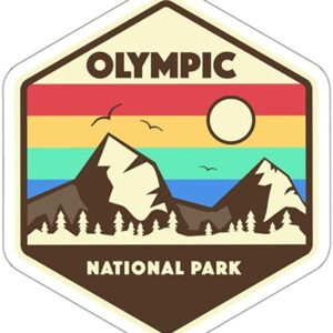 Olympic National Park Retro Sticker