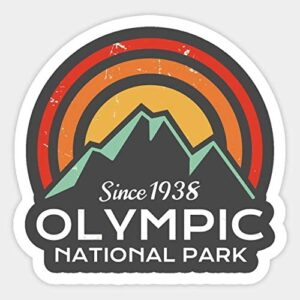 Olympic National Park Retro Vinyl Sticker