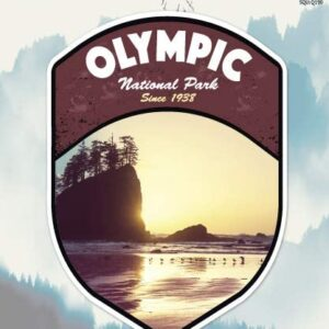 Olympic National Park Sunset Sticker
