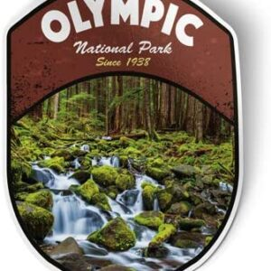 Olympic National Park Waterfall Sticker