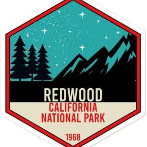 Redwood California National Park Night Stickers