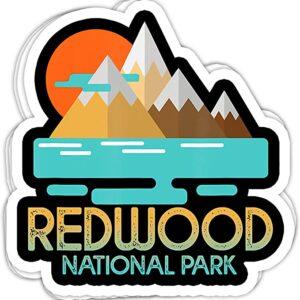 Redwood National Park Geometric Sticker