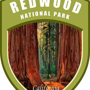 Redwood National Park Shield Sticker