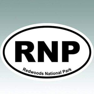 Redwoods National Park Oval Sticker