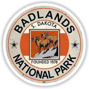 Retro Badlands Sticker