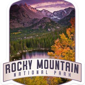 Rocky Mountain National Park Colorado Vinyl Die Cut Sticker