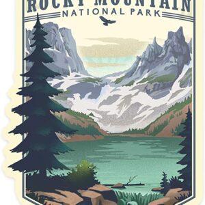 Rocky Mountain National Park Lake Sticker