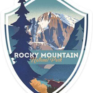 Rocky Mountain National Park Moose & Lake Sticker