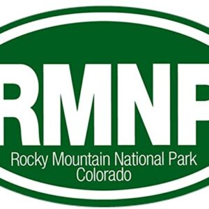 Rocky Mountain National Park Oval Bumper Sticker