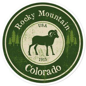 Rocky Mountain National Park Ram Vinyl Sticker