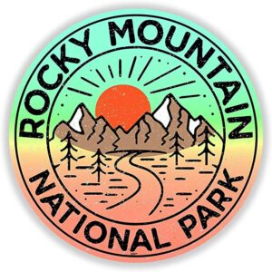 Rocky Mountain National Park Vintage Adventure Sticker