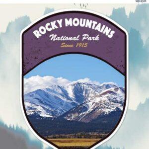 Rocky Mountains Colorado National Park Vinyl Sticker