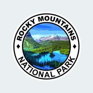 Rocky Mountains National Park Round Sticker Decal