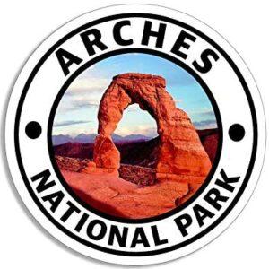 Round Arches National Park Utah Waterproof Sticker