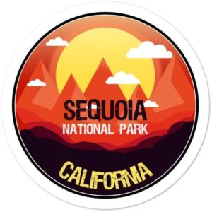 Sequoia California National Park Vinyl Sticker