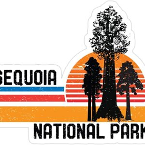 Sequoia National Park California Retro Trees Sticker