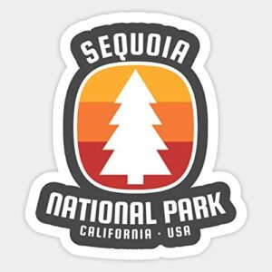 Sequoia National Park California Vintage Sticker