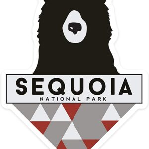 Sequoia National Park Geometric Bear Sticker