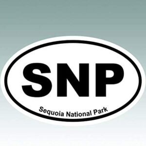 Sequoia National Park Oval Sticker