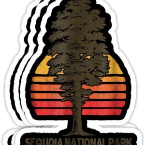Sequoia National Park Retro Sticker Decal