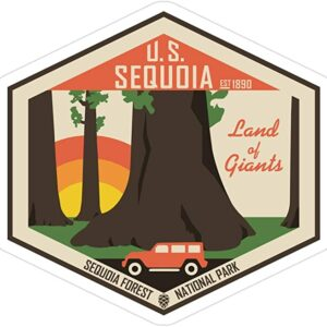 Sequoia National Park Road Trip Sticker