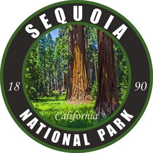 Sequoia National Park Sticker Vinyl Black Round Sticker