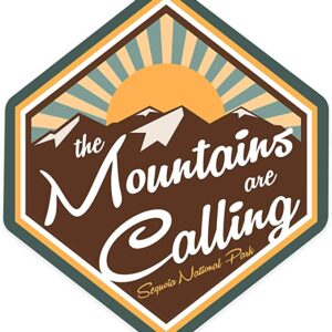 Sequoia National Park The Mountains Are Calling Sticker