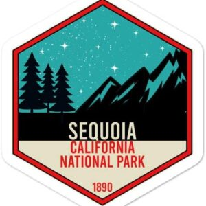 Sequoia National Park Trees And Mountains Sticker