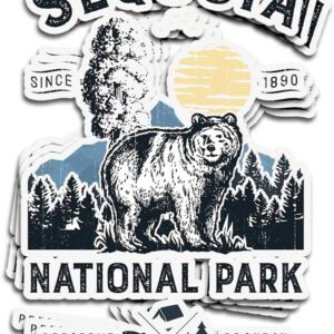 Sequoia National Park Vintage California Bear Sticker