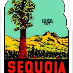Sequoia National Park Vintage Sticker