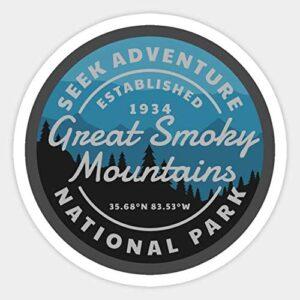 Smoky Mountains National Park Mountain 1934 Sticker