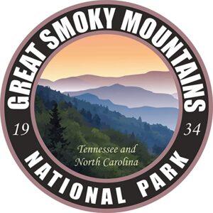 Smoky Mountains Round Sticker