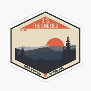 The Smokies Sunset Sticker