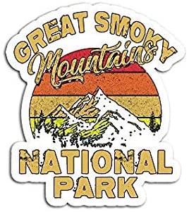 Vintage Great Smoky Mountains National Park Mountains Retro Sticker